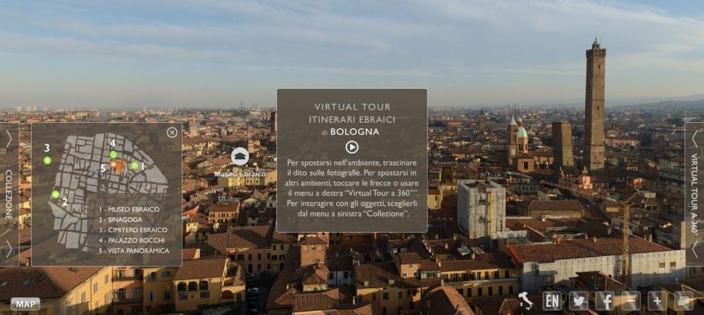 Tour virtuale dei luoghi ebraici di Bologna